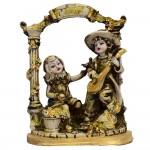 مجسمه دختر و پسر نوازنده کد 14