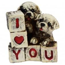 مجسمه سگ مدل i love you کد 539