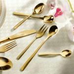 سرویس قاشق و چنگال فلورانس تمام طلا - 148 پارچه