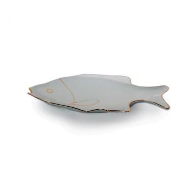 دیس طرح ماهی  متوسط لمون کد 105