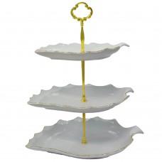 شیرینی خوری سه طبقه طرح برگ